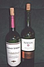 2 EMPTY 2010 Wine Bottles RODNEY STRONG & NORTON 750ML CORKS Green Glass CRAFTS!