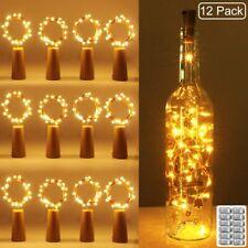 12x Filamenti di luci LED per bottiglia con finto tappo Per decorazioni Batterie
