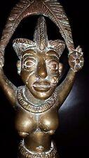 ANCIENNE STATUE SCULPTURE STATUETTE FEMME BRONZE AFRIQUE AFRICAIN H30 cm SENEGAL