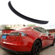 Fit For Tesla Model S Sedan 2012-2017 Carbon Fiber Trunk Lip Spoiler Sharp Blade