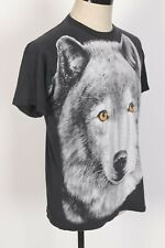 New listing Vintage 90s Wolf All Over Print Single Stitch T-Shirt Usa Mens Size large