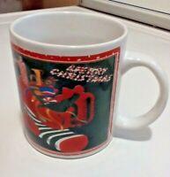 Christmas Coffee Cup Stocking Full Of Toys Design Around Mug
