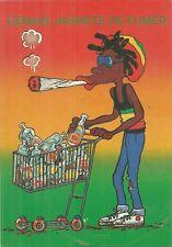 RARE / CARTE POSTALE - BOB MARLEY : HUMOUR DEMAIN J' ARRETE DE FUMER / POSTCARD