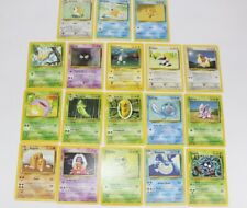 1999 Pokemon Base Set Unlimited Non Holo Common and Uncommon Lot of 18