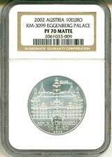 2002 Austria S10E Euro Eggenberg Palace KM-3099 NGC PF70 Matte