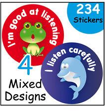 'Good listener' reward stickers, for nursery or school, teachers and parents