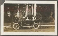 Vintage Car Photo Family in 1912 Cadillac Automobile in Dayton Ohio 705083