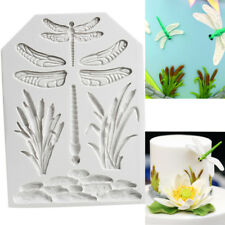 Silicone Dragonfly Fondant Mold Cake Grass Tree Leaf Animal Baking Pastry Mould
