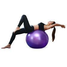 Yoga Exercise Ball w Air Pump Anti Burst Exercise Workout Stability 75 cm purple
