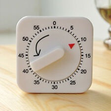 1Hr/60Min Mechanical Timer Game Count Down Counter Alarm Kitchen Cooking Helper