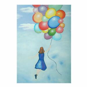 Hand Painted Oil Painting Framed Canvas Modern Art Wall Home Decor Balloon Girl