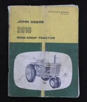 1960 JOHN DEERE 2010 GASOLINE ROW-CROP TRACTOR OPERATORS MANUAL GOOD SHAPE