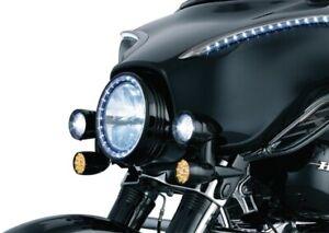 Kuryakyn Fairing Mounted Driving Lights with Turn Signals, Gloss Black 5029
