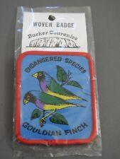 bird souvenir woven patch Gouldian Finch endangered species