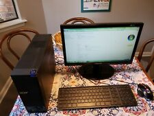 """Acer Aspire X1430G Personal Computer with Samsung 18"""" screen, keyboard and mouse"""