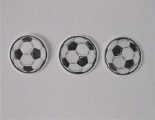PRE CUT 12 EDIBLE RICE PAPER WAFER CARD SOCCER FOOTBALL CUPCAKE CAKE TOPPERS