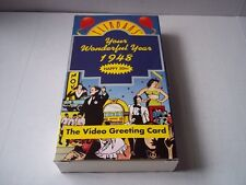 Flikbaks: Your Wonderful Year: 1948. Video Greeting Card. VHS. Pre-owned.