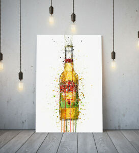 DESPERADOS -DEEP FRAMED CANVAS WALL SPLASH ART PICTURE PAPER PRINT- YELLOW GREEN