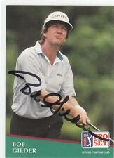 BOB GILDER Autographed Signed 1991 Pro Set card PGA Arizona State COA