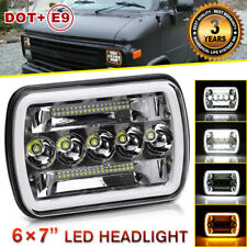 7x6 5X7 Inch LED Headlight DRL halo angel eyes For Chevy Express Cargo Van 120W