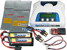 COMBO PD403 Charger 2x 7.4V 2000mAh LiPo Battery Traxxas 1/16 E-Revo Summit VXL
