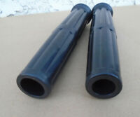 """1"""" & 7/8"""" SET REAL RUBBER MOTORCYCLE GRIPS ANTIQUE VINTAGE CLASSIC EARLY BIKES"""