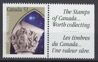 Canada #1586as 52¢ Christmas Capital Sculptures + Label from Booklet MNH