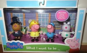 Peppa Pig What I Want To Be 4 Piece Figure Set ~ George, Peppa, Suzy & Pedro