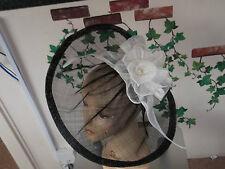 BIG SALE fascinator Hat wedding  royal Ascot races black ivory cream