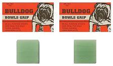BOWLS Grip Aid Bull Dog Bowls Grip All Purpose Sports Grip Twin Pack 20g Total