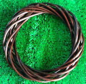 "Wicker / Willow  Wreath Ring- Dark Willow 8""(20cm) dia.-Single"