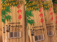"KARI-OUT CO 6"" BAMBOO SKEWER ,  200/CT 300 400 500 600 700 800 900 1000"