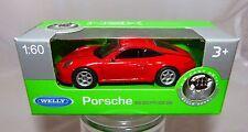 Welly Porsche 911 rouge en 1:60 neuf et dans l'emballage d'origine