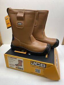 JCB Rigger Safety Boot Tan Apollo Leather New Size 10