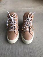 Giuseppe Zanotti May London High Top Sneaker - Blush Patent Leather Size US 8