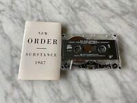 New Order Substance CASSETTE Tape 1987 Qwest 9 25621-4 Blue Monday, Perfect Kiss