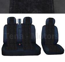 OPEL VAUXHALL VIVARO Bus Box Seat Covers 2+1 Headrest Black /Black DE LUX FABRIC