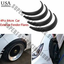 4 x840 Black Universal Exterior Fender Flares Flexible Integra Auto Car Body Kit