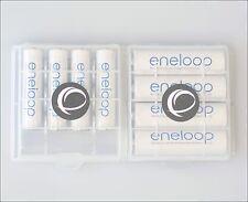 4 x Panasonic Eneloop AA + 4 x AAA Akku Set 8 Stück + 2 x Box BK-3MCCE BK-4MCCE