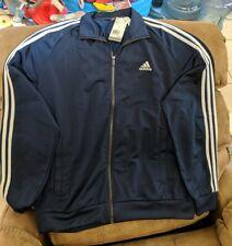 [B47367] Mens Adidas Essential Tricot 3 Stripe Track Jacket