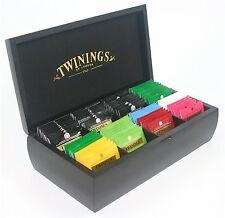 Twinings noir luxe 8 compartiment en bois thé coffre de 80 twinings thé sacs