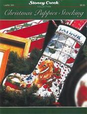 Christmas Puppies Stocking LFT389 by Stoney Creek Christmas cross stitch pattern