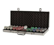 500 PC 11.5g Chips Las Vegas Poker Set 2 Deck Of Cards 5 Dice Dealer Button New