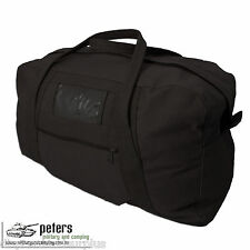 Army Style Echelon Heavy Duty Cotton Canvas Bag In Black
