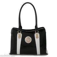 Serenade Ace Black & White Leather handbag (SH80-0653)