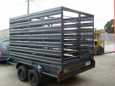 12x6 Tandem Cattle Cage Trailer