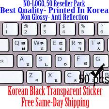 Korean Black Transparent Keyboard Sticker Printed In Korea. 50 pcs DEAL!