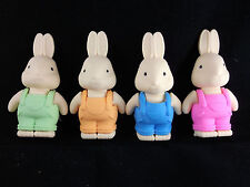 8 COLOURFUL RABBIT ERASERS/RUBBERS, PARTY BAG TOY, GIFTS, FAVOURS