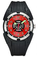Aqua Force Firefighter PU Rubber Super Luminous Watch (50m Water Resistant)