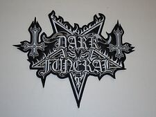 DARK FUNERAL BLACK METAL EMBROIDERED BACK PATCH